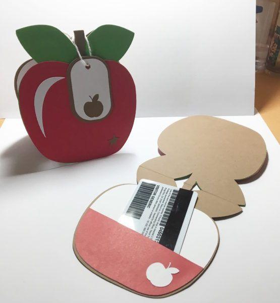 Shaped Apple Gift Card Holder Lovethatbug Cricut