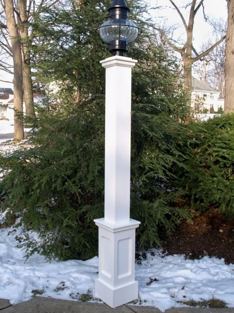 All Azek 6x6x72 Lantern Post Sleeve With 24 Genuine Recessed Panel Base Lantern Post Post Sleeve Outdoor Lamp Posts