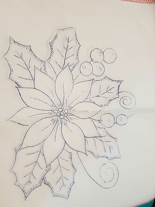 Pin de elena magana en proyectos que debo intentar - Dibujos navidenos para pintar en tela ...