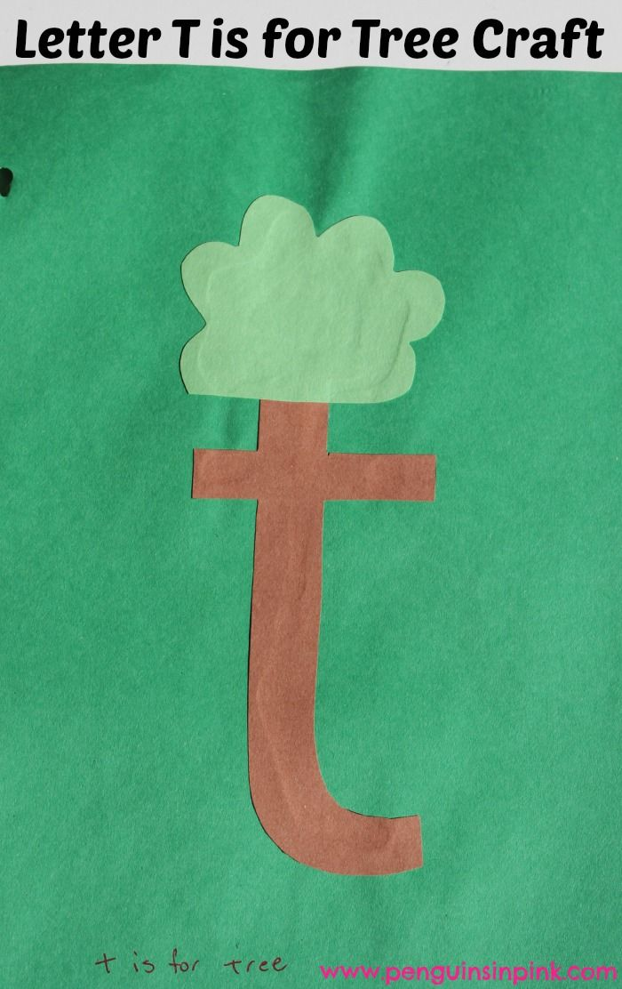 letter t is for tiger and tree craft homeschool toddlers