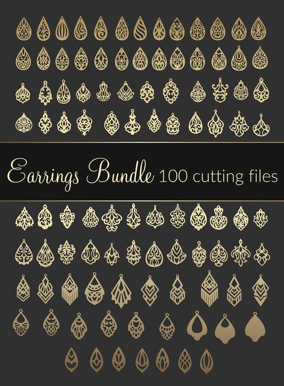 Photo of 100 SVG Earring Bundle-Dxf Eps CDR-Cricut Maker-Digital Download-Laser Cut Leather Jewelry Making-New Ideas