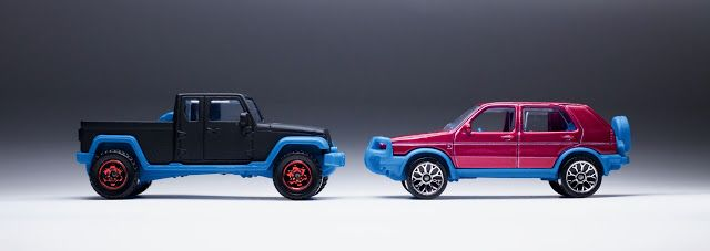 New Matchbox jeep Gladiator and VW Golf Country