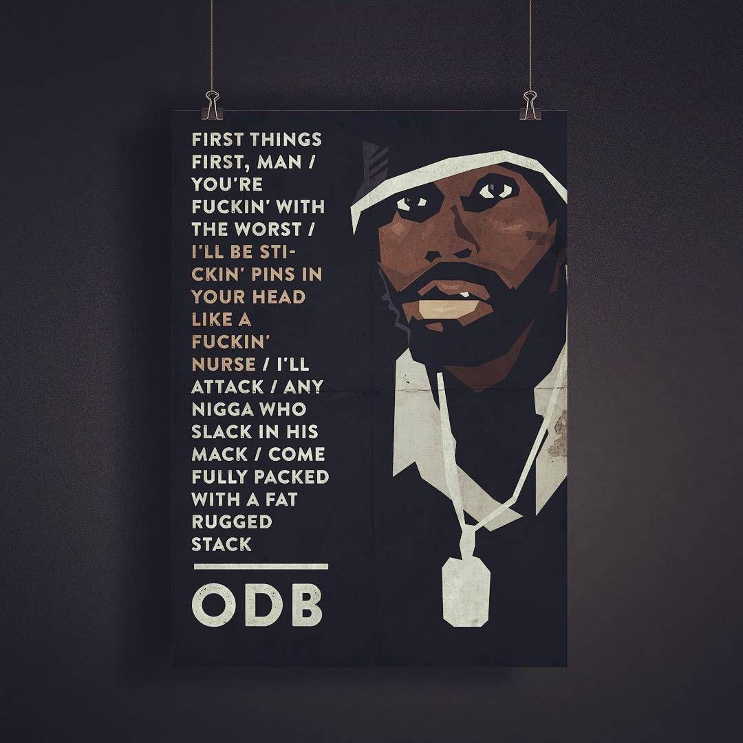 Poster design w graff -  Odb Oldirtybastard Wutang Wutangclan Newyork Legend Rapper Poster
