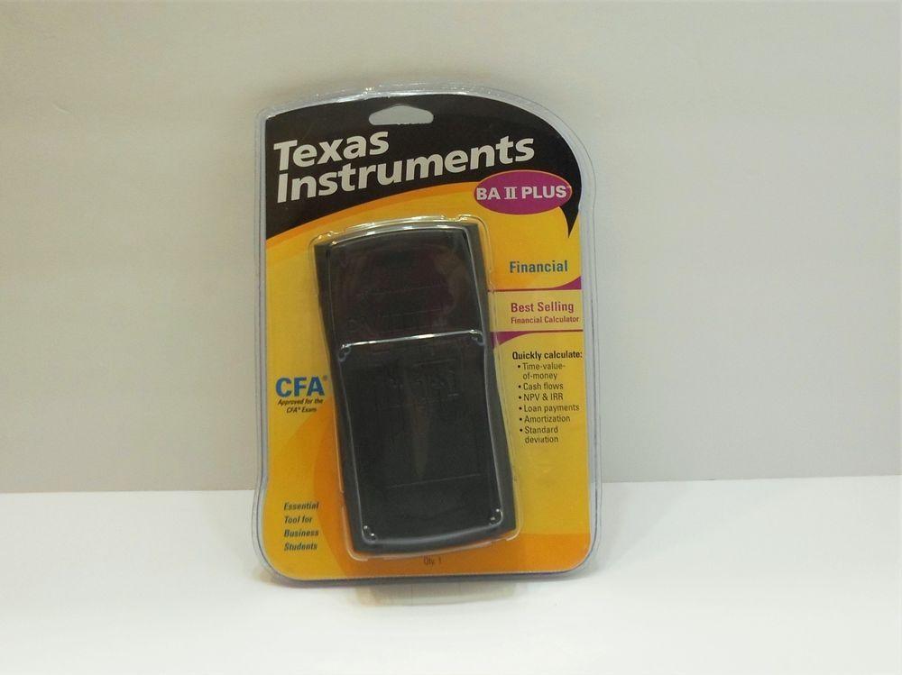 Texas Instruments Ba Ii Plus Financial Calculator New Open Package