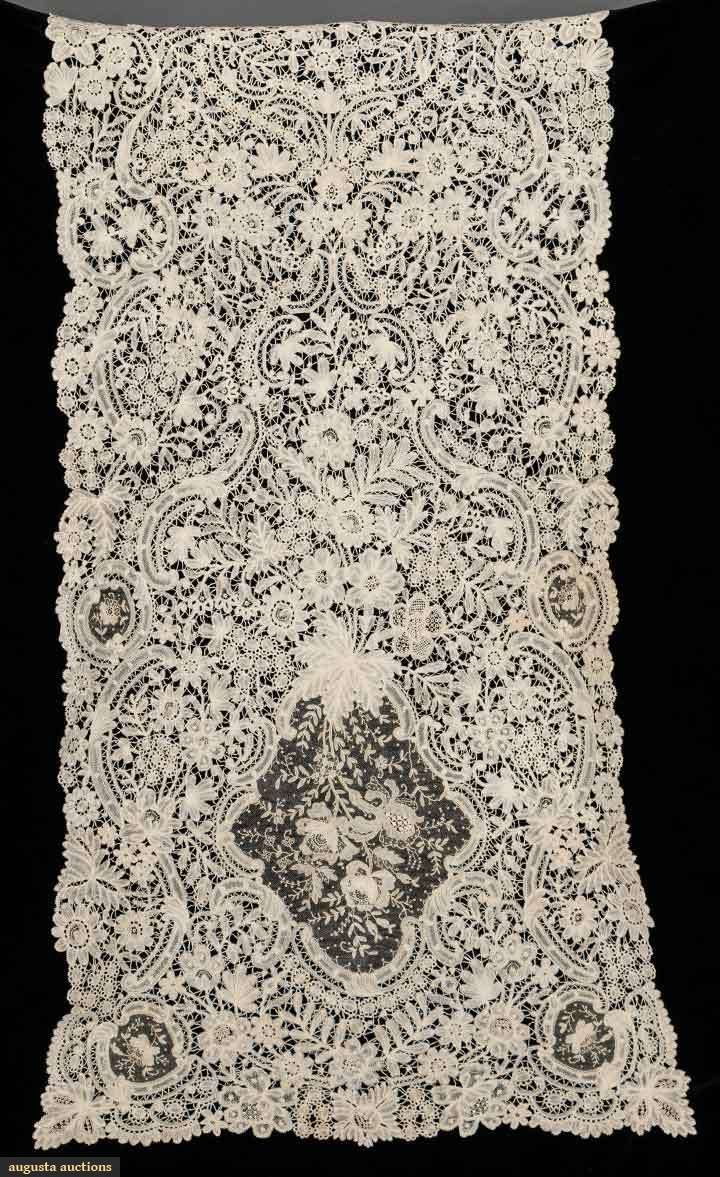 Handmade Brussels Lace Veil, 19th C, Augusta Auctions ...