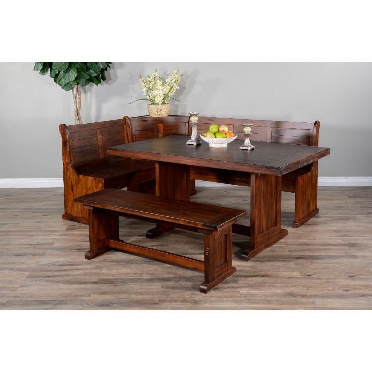 Breakfast Nook Short Bench & Corner Seat Wood Seat