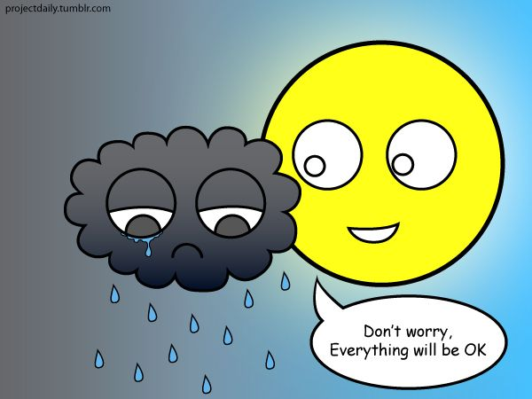 Sad Cloud, Nice Sun  Know someone who is feeling a little down? Hopefully this image will brighten up their day.  ARTIST NOTES