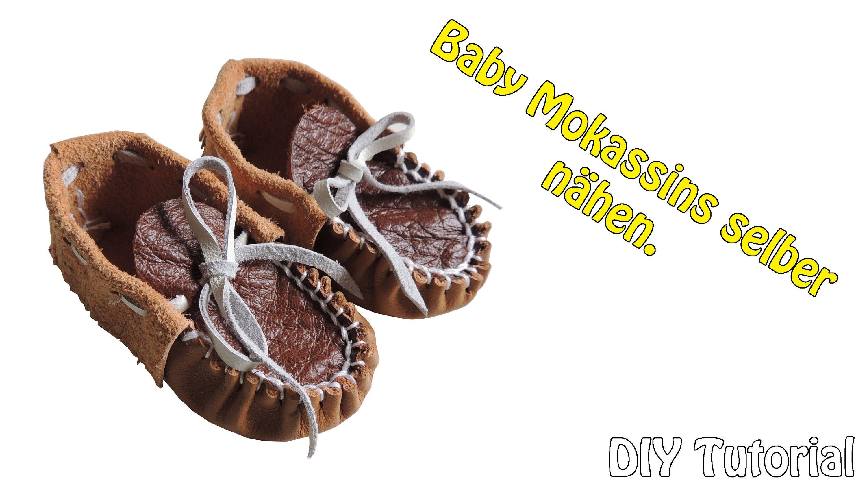 DIY | Leder Babyschuhe häkeln selber machen | Nähen für Anfänger ...
