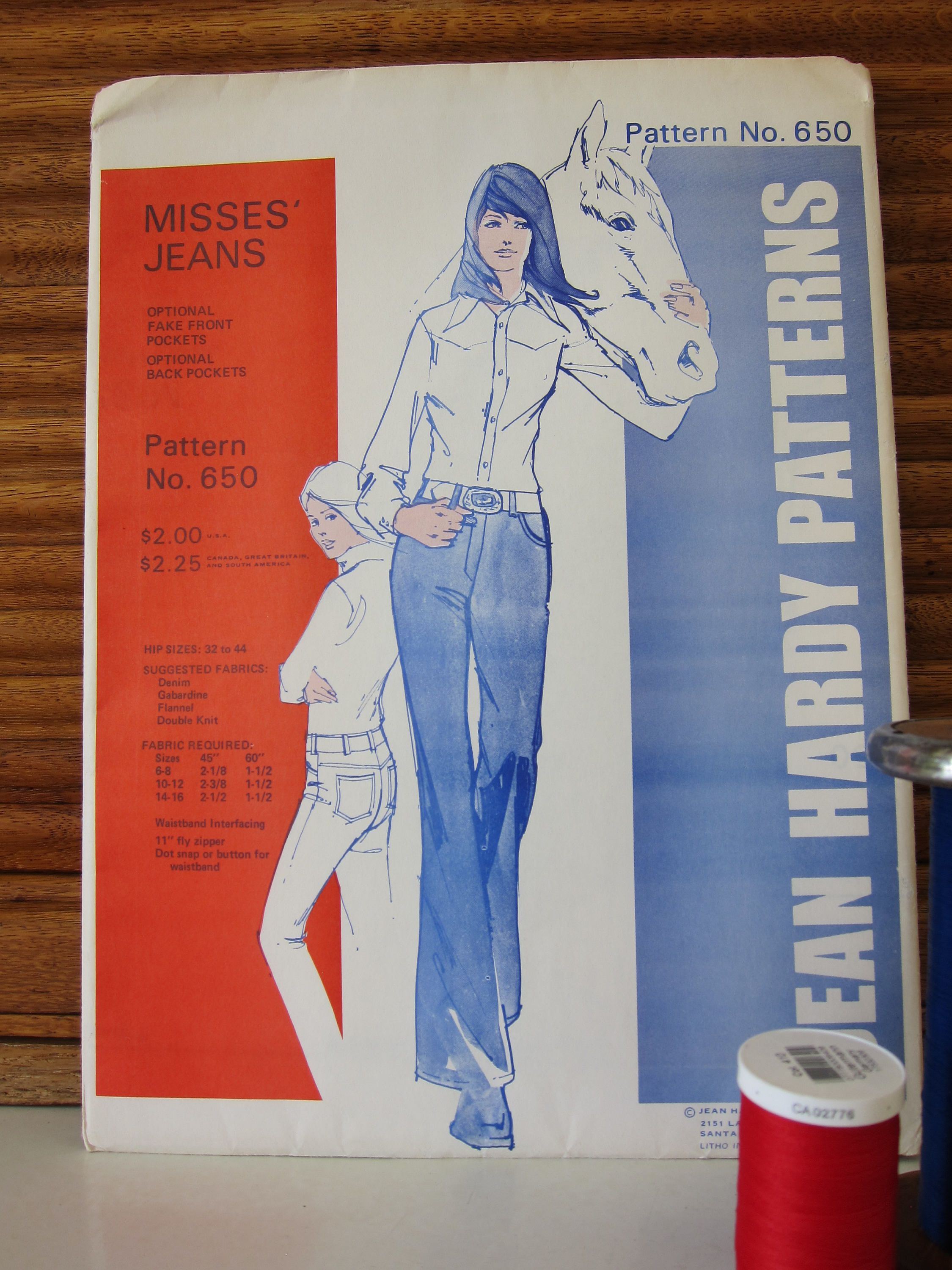 Jean Hardy Misses Jeans No  650  Hips 32-44
