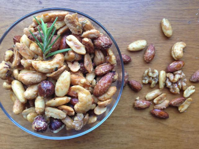 Maple Roasted Bar Nuts from Fieldhouse Kitchen