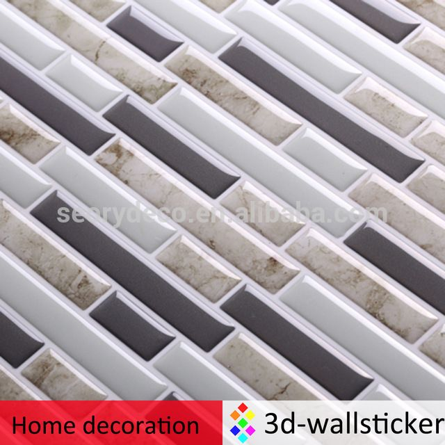 Dongguan factory T80108 wall tile peel and stick removable wall kitchen tile stickers for backsplash