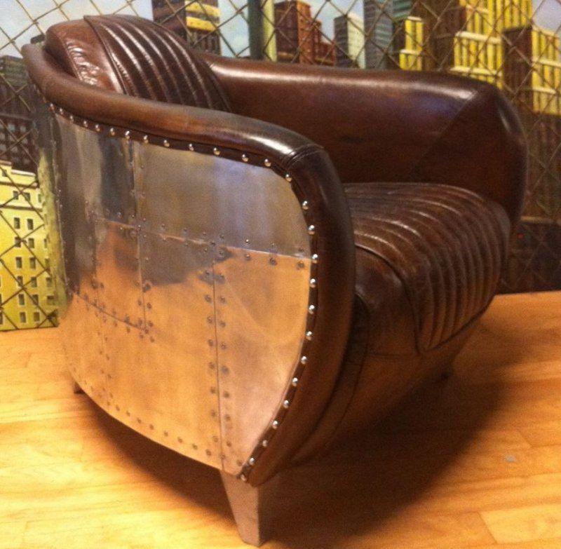 Fauteuil CLUB AVIATEUR en cuir marron vintage | Furniture en 2019 ...