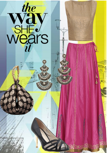 Checkout this exclusive look on Limeroad.com at…