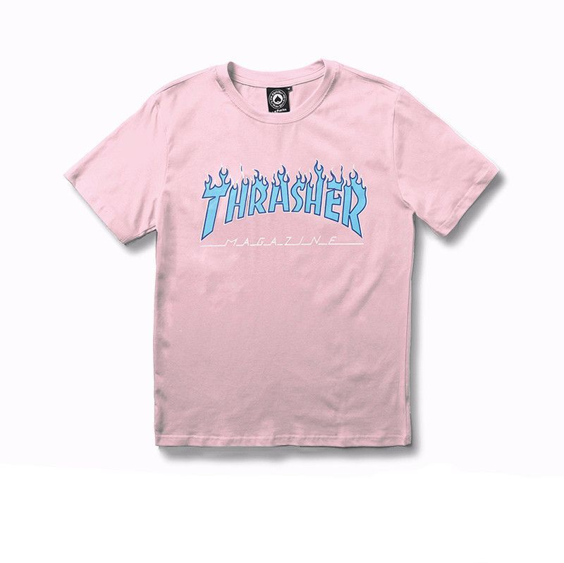 beffa0231884 Thrasher Pink T-shirt W/Blue Flame logo in 2019 | Fashion/Clothes ...