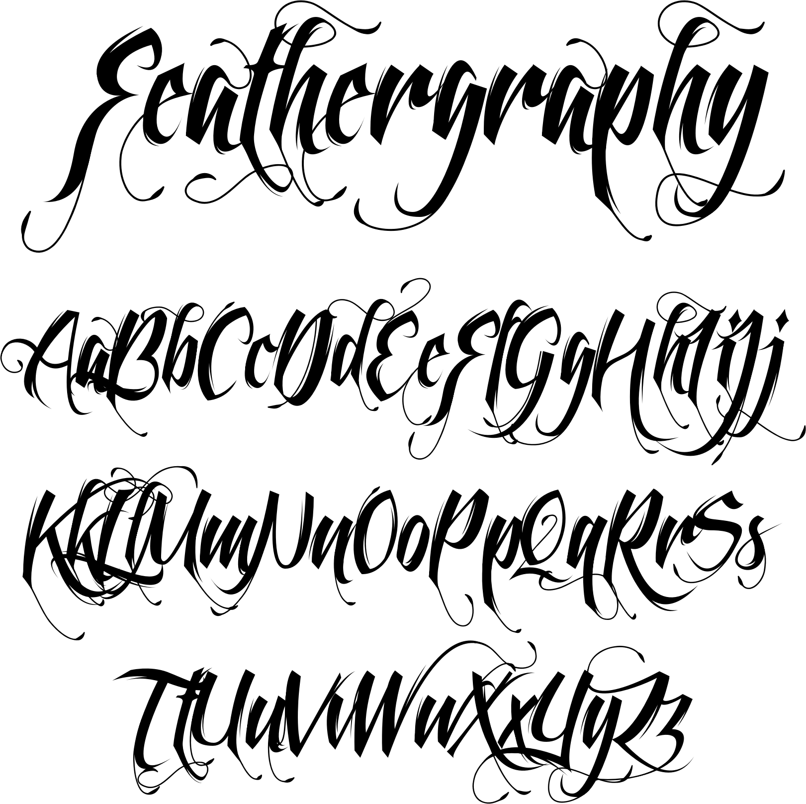 My font for my stay strong tattoo.