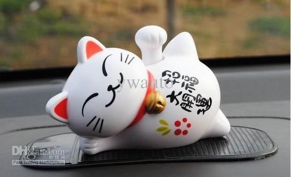 Novelty Toys Car Decor Flap Flip Solar Powered Lucky Cat Swing Solar ...