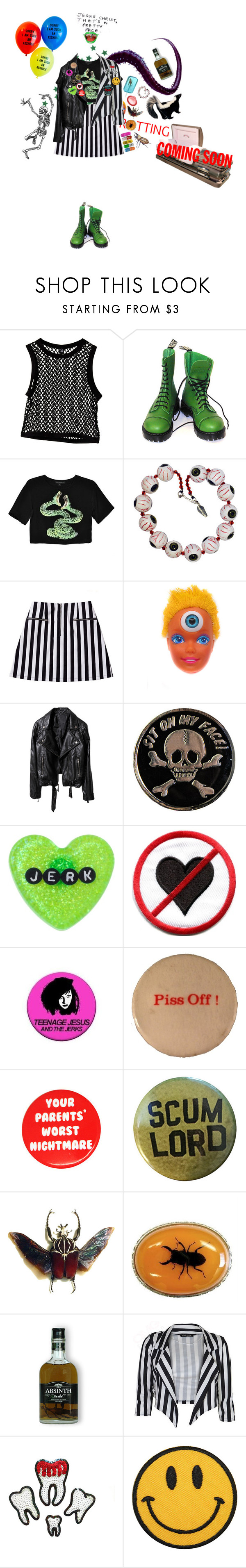 """beetlejuice! beetlejuice! beetlejuice!"" by teething ❤ liked on Polyvore featuring Vegetarian Shoes, Stolen Girlfriends Club and Sourpuss"