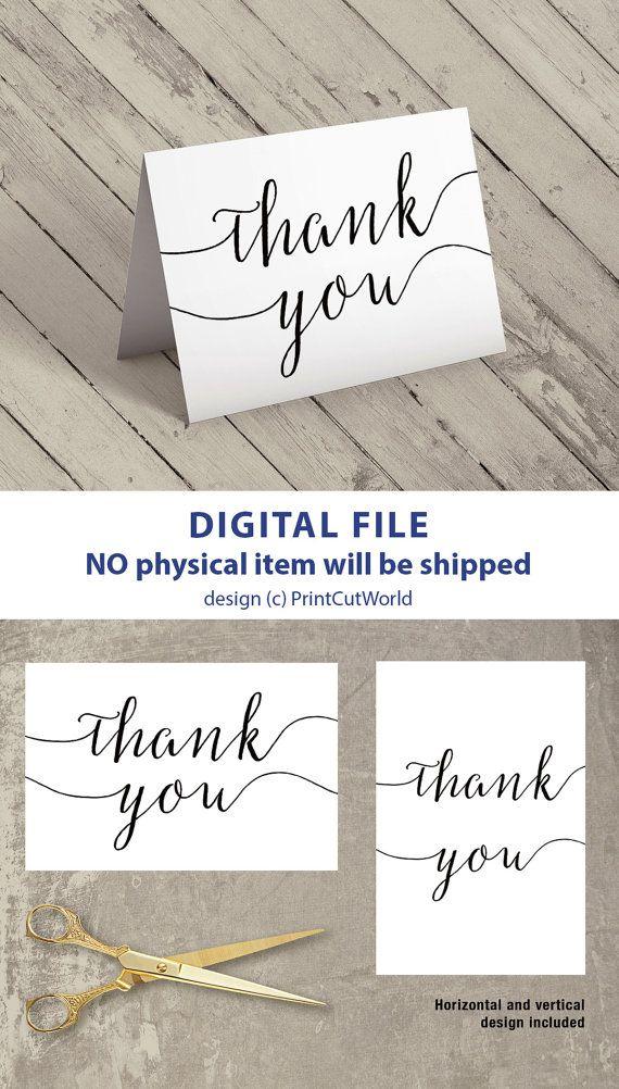 Thank You Card Printable 4x6 Wedding Card Thank You Template Etsy Thank You Template Printable Thank You Cards Thank You Cards