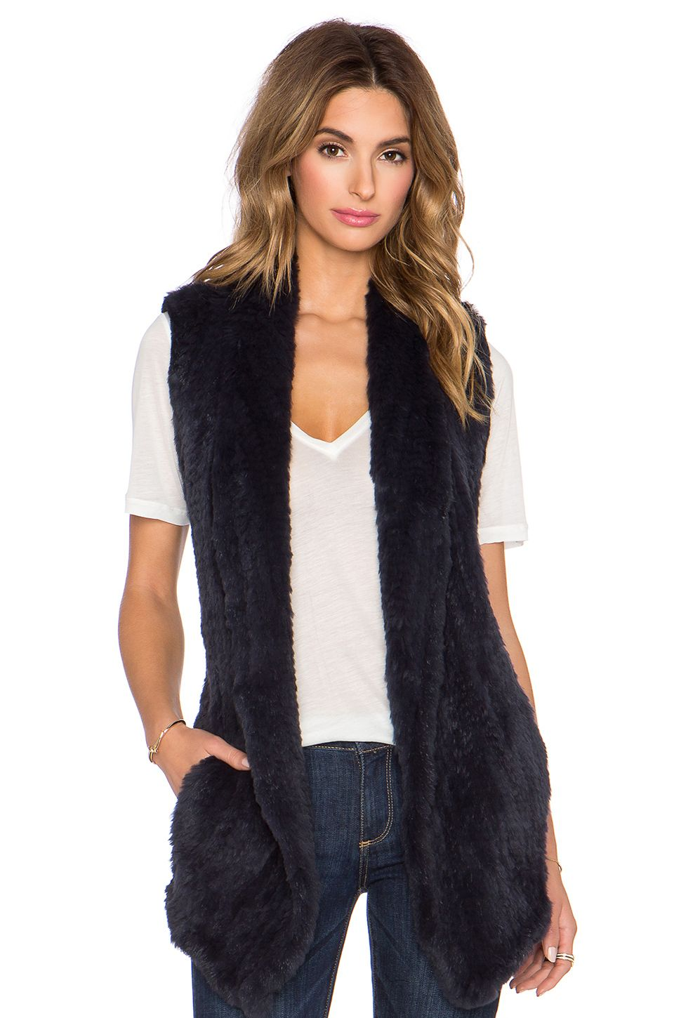 June Long Rabbit Fur Vest... Love this one, just not in
