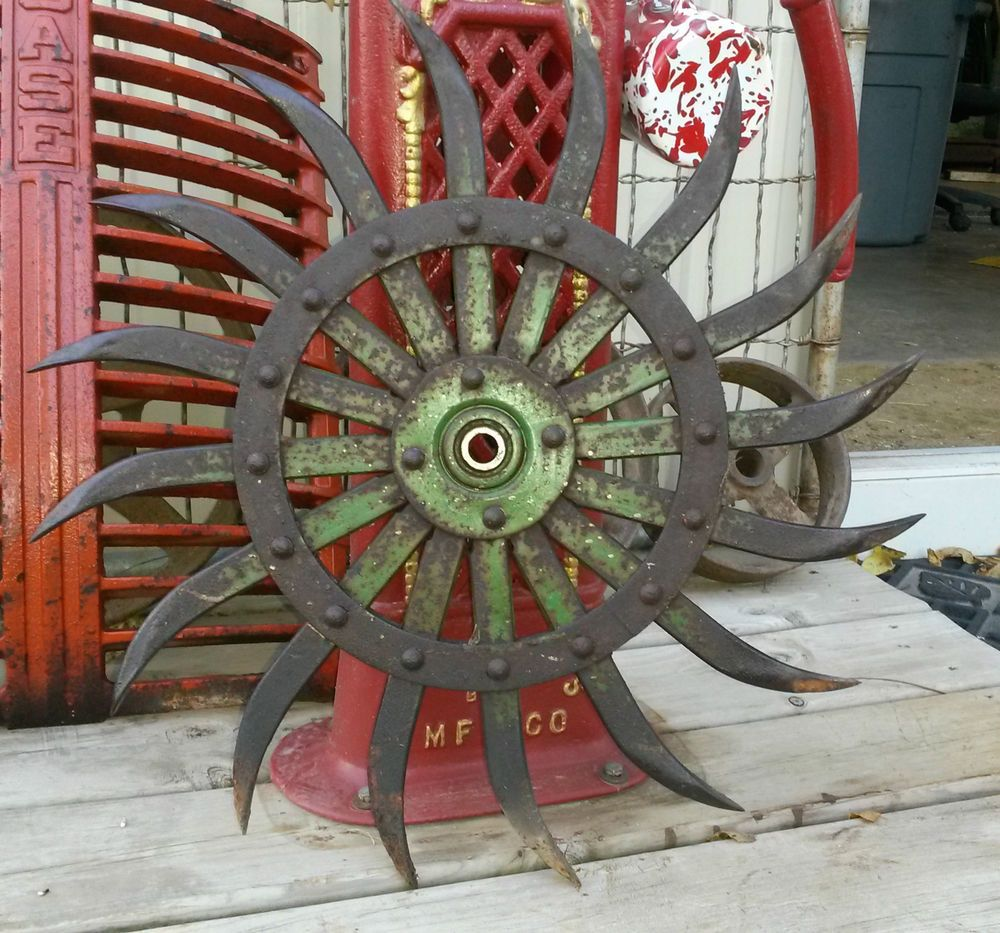 Industrial Chic Wall Hanging Farm Implement Cultivator Wheel
