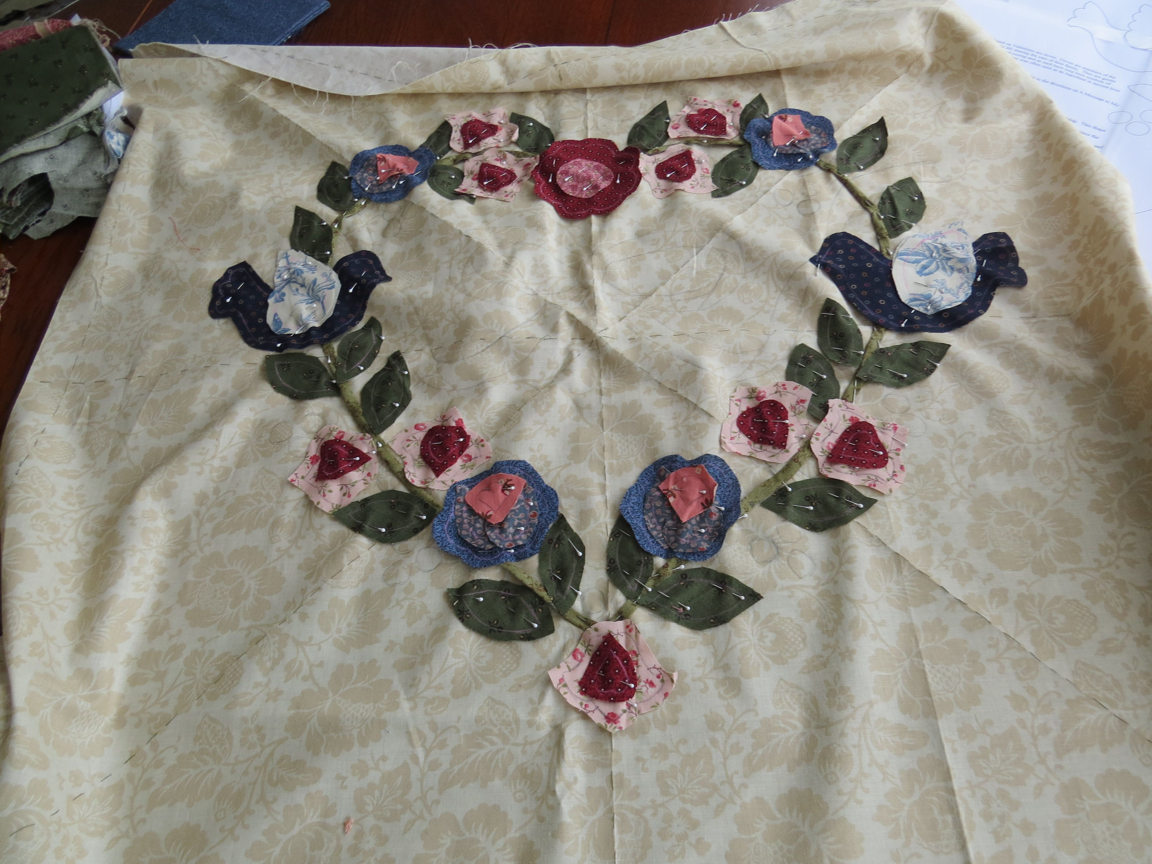 """Some inspiration for YOU! Pattern from Rosemary Makhan """"Hearts and flowers"""""""
