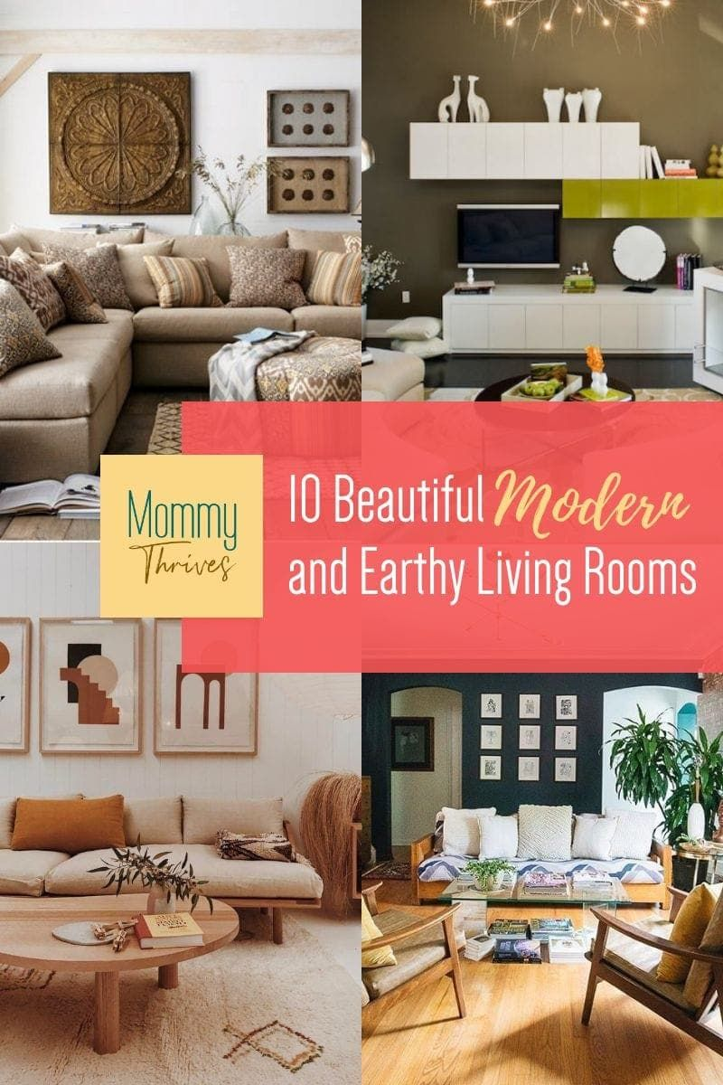 Earthy Living Room Decor Ideas - Earthy and Contemporary Decor For Living Rooms - Decorating With Earth Tones in Living Room #livingroomdecor #moderndecor #earthydecor