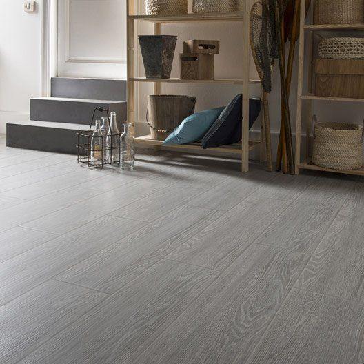 Carrelage sol et mur gris effet bois Avoriaz l202 x L802 cm