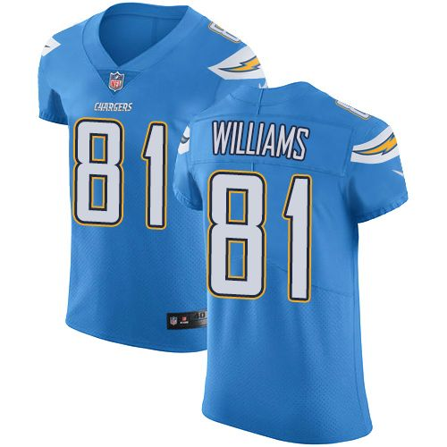 443937be8 Nike Chargers  81 Mike Williams Electric Blue Alternate Men s Stitched NFL  Vapor Untouchable Elite Jersey