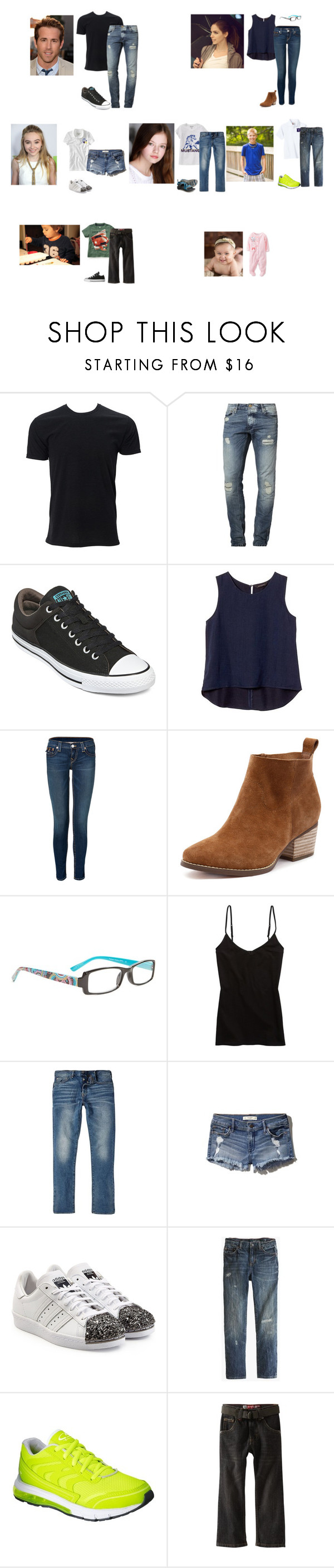"""The Hope family"" by the-hope-family ❤ liked on Polyvore featuring Jack & Jones, Converse, Banana Republic, True Religion, Vera Bradley, Aerie, River Island, Chaco, Abercrombie & Fitch and adidas Originals"