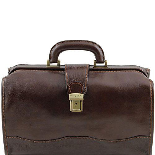 Tuscany Leather Raffaello - Doctor leather bag Dark Brown Doctor bags ** See this great product.