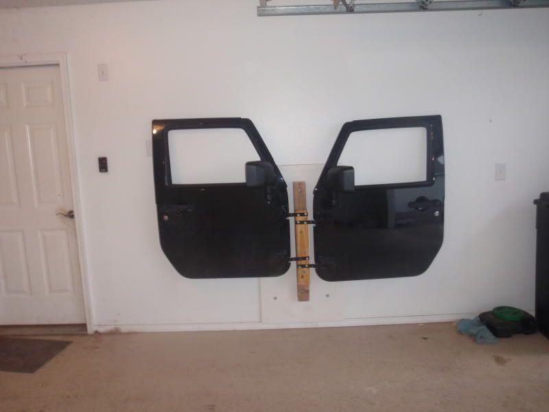 Homemade Door Hanger Using Door Hinges Jeep Doors Jeep Wrangler Doors Diy Jeep