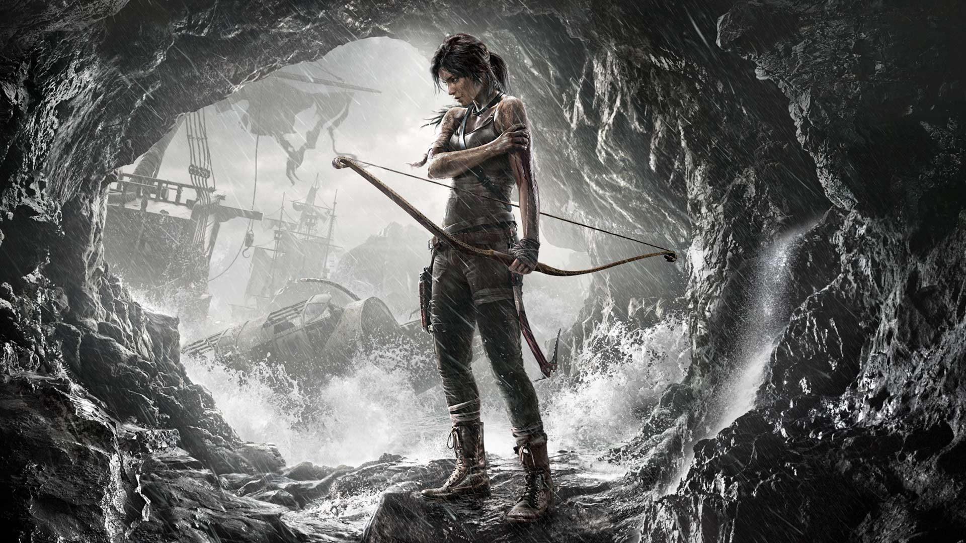 Lara Croft Tomb Raider Arrows Artwork Black Hair Wallpaper Tomb