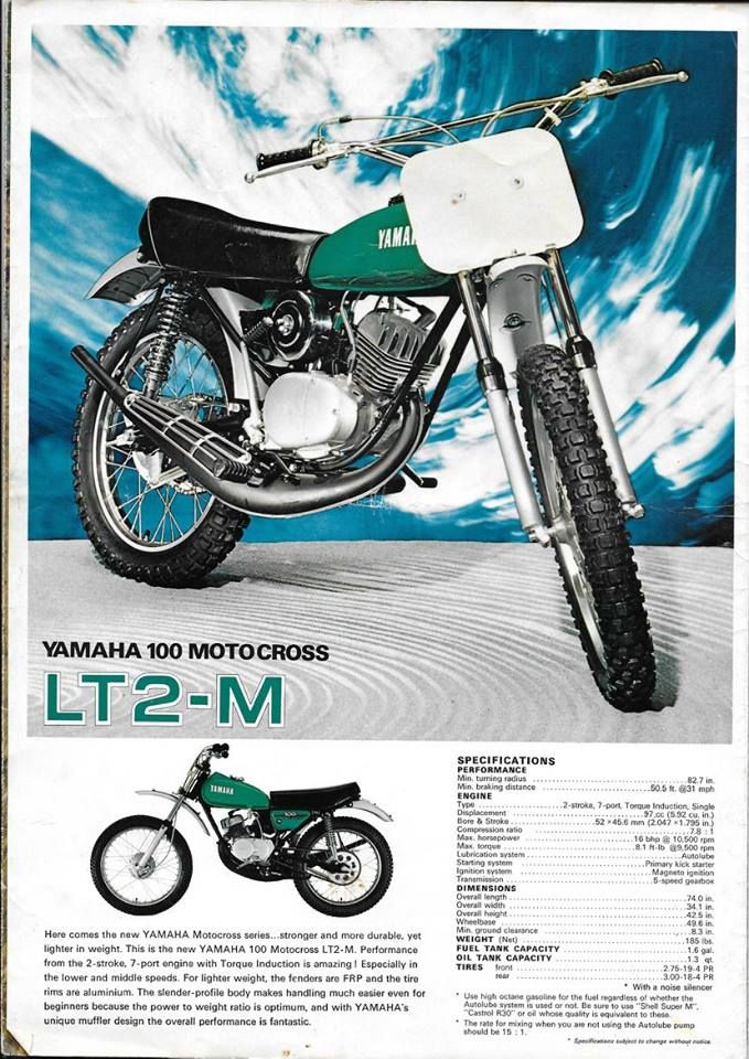 1972 Yamaha Lt2 M 100cc Motocrosser Yamaha Motocross Vintage Motocross Yamaha Bikes