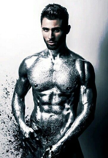Silver Body Painting Men Body Painting Body Art Photography