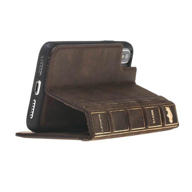 best website 6a9d1 b6140 Burkley Case Old Book Magnetic Detachable Wallet Case For Apple ...