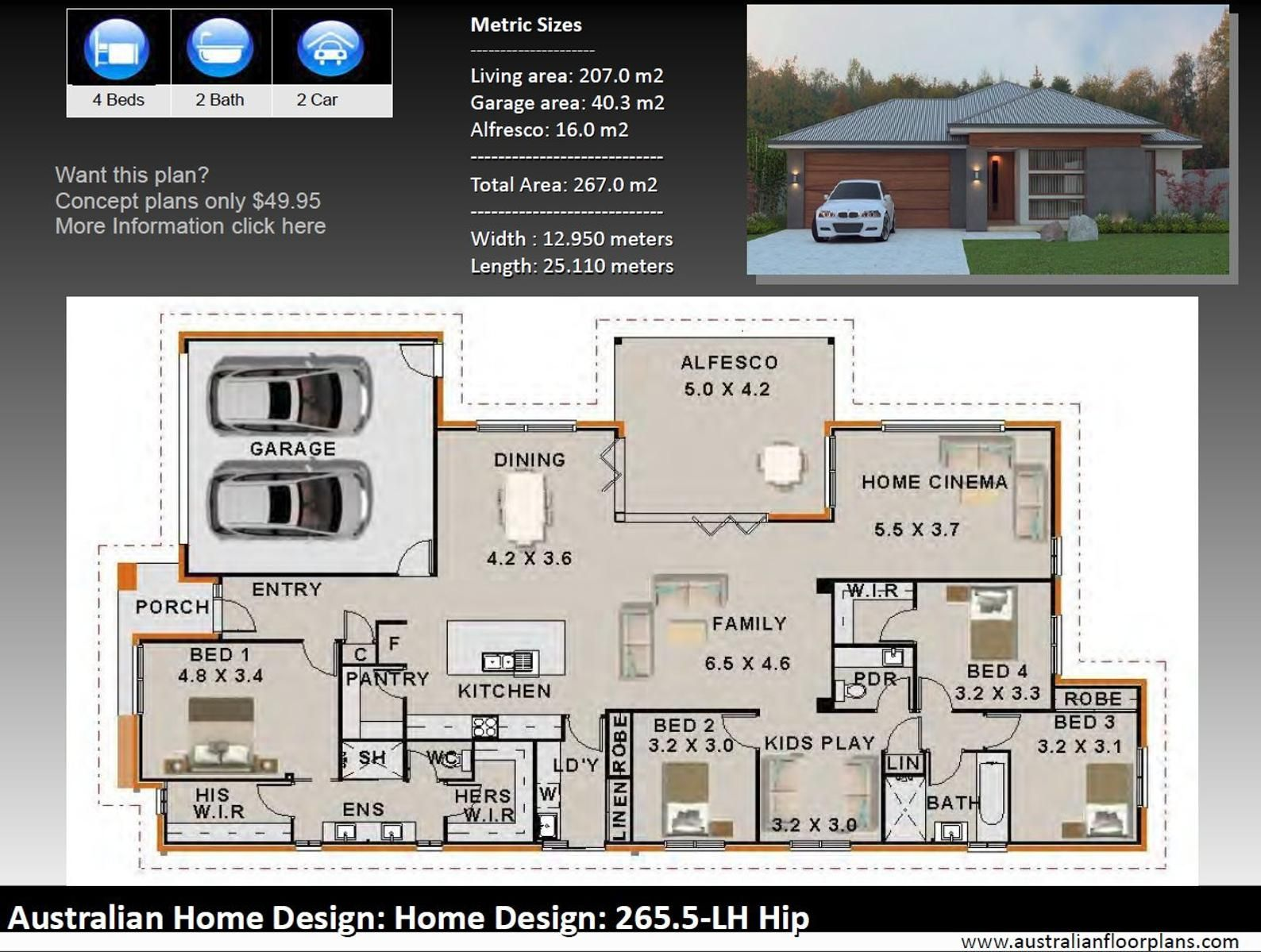 4 Bedroom House Designs Australian And International Home Etsy In 2021 Brick House Plans Bedroom House Plans Single Level House Plans