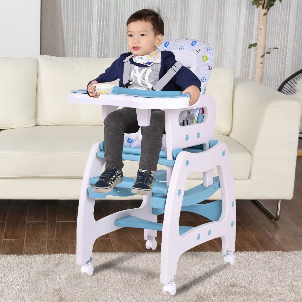 3in1 Baby High Chair Convertible Play Table Baby high