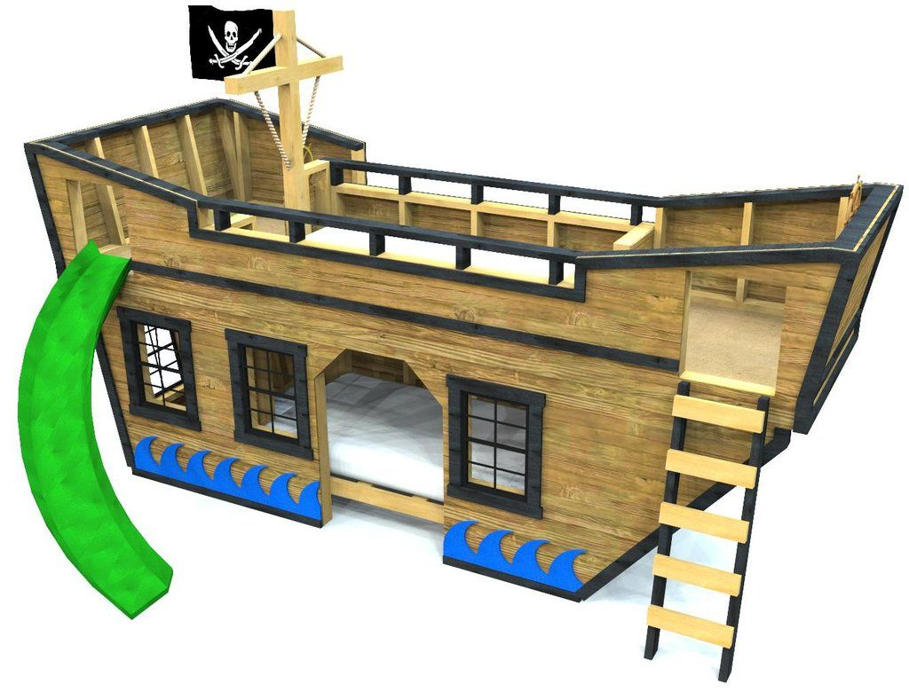 Sea King Pirate Ship Bunk Bed Plan In 2019 Pirates Play Houses