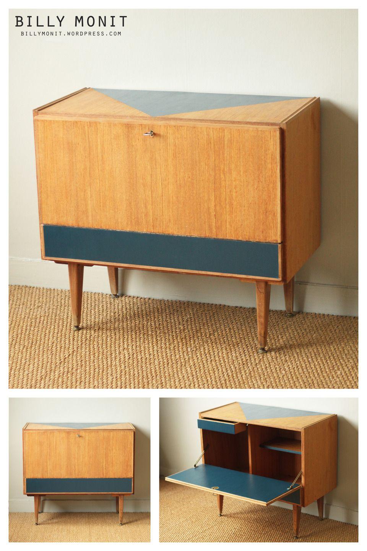 17 meilleures id es propos de meuble ann e 60 sur - Relooking meuble avant apres ...