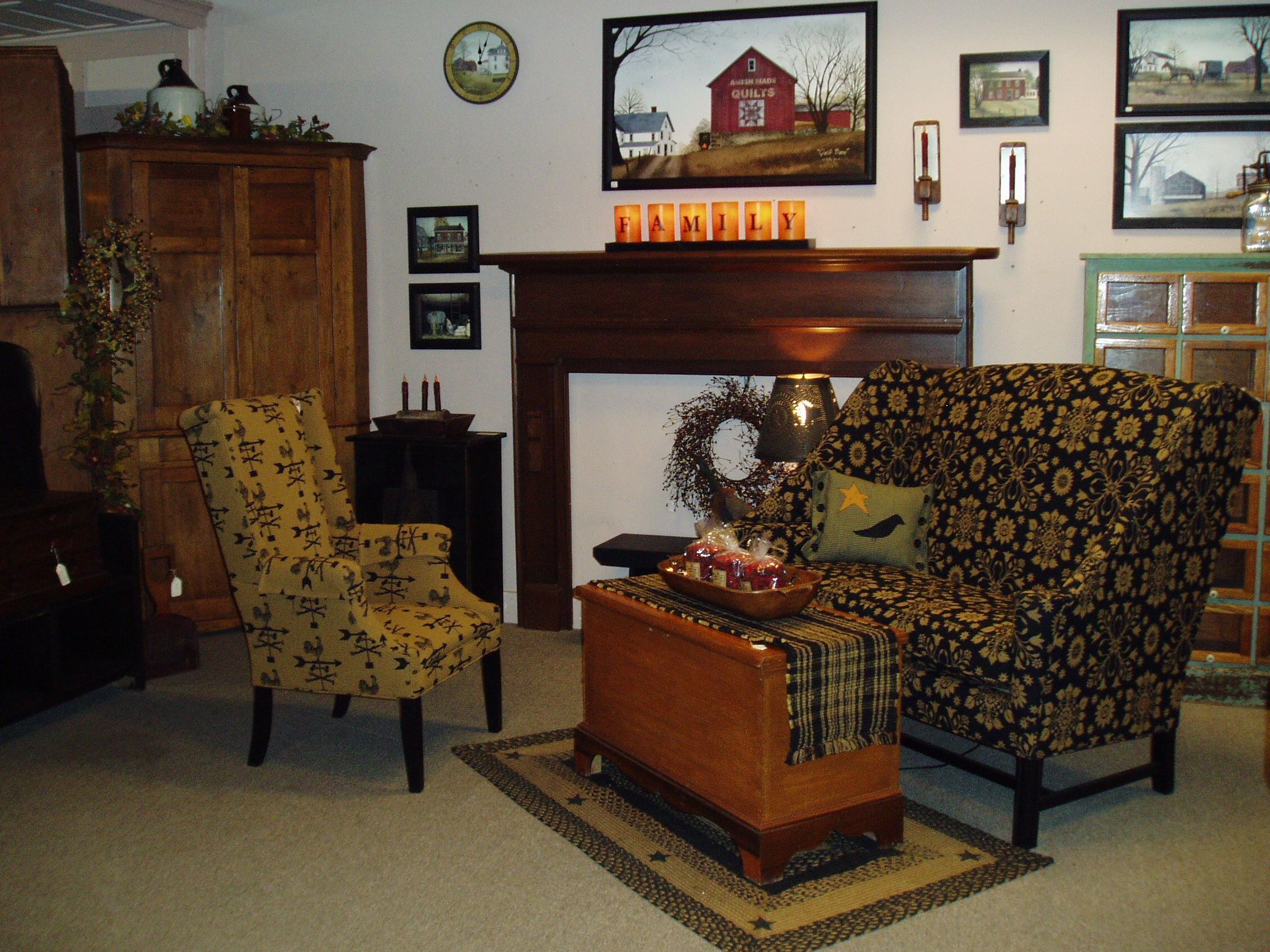 Country Manor furniture collection has a variety of chair