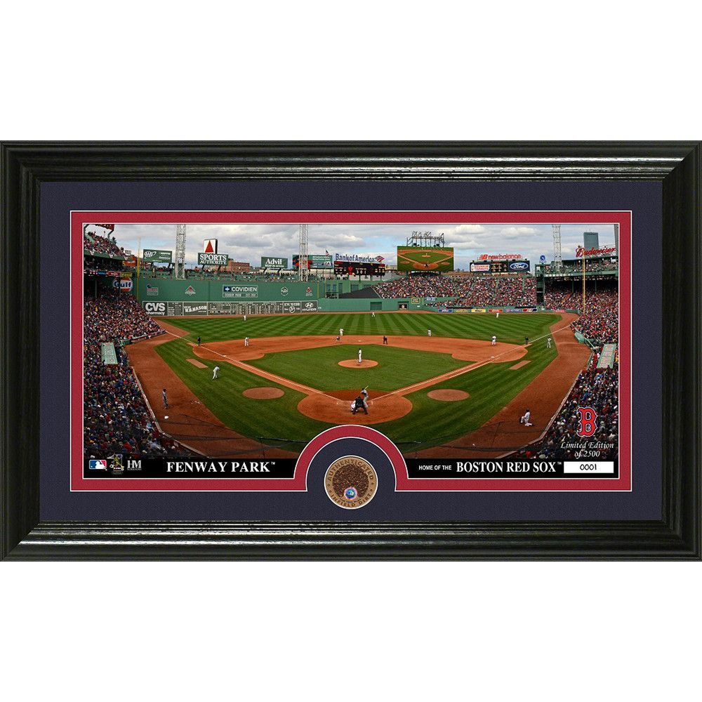 Boston Red Sox Infield Dirt Coin Panoramic Photo Mint Panoramic Photo Boston Red Sox Red Sox