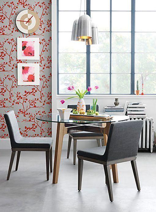 Mesa de comedor redonda con sobre de cristal mesas - Cristales para mesas redondas ...