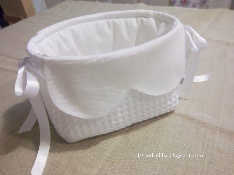 Cestino Bagno ~ Lavanda e lillà tutorial cestino con lavette cestino di stoffa