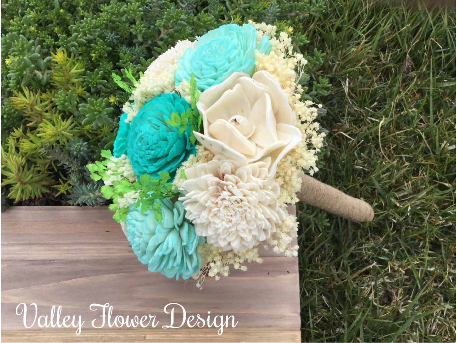 Ready to Ship - Small sola flower bouquet, Wedding bouquet, Alternative bouquet by Valleyflowerdesign on Etsy https://www.etsy.com/listing/290774995/ready-to-ship-small-sola-flower-bouquet