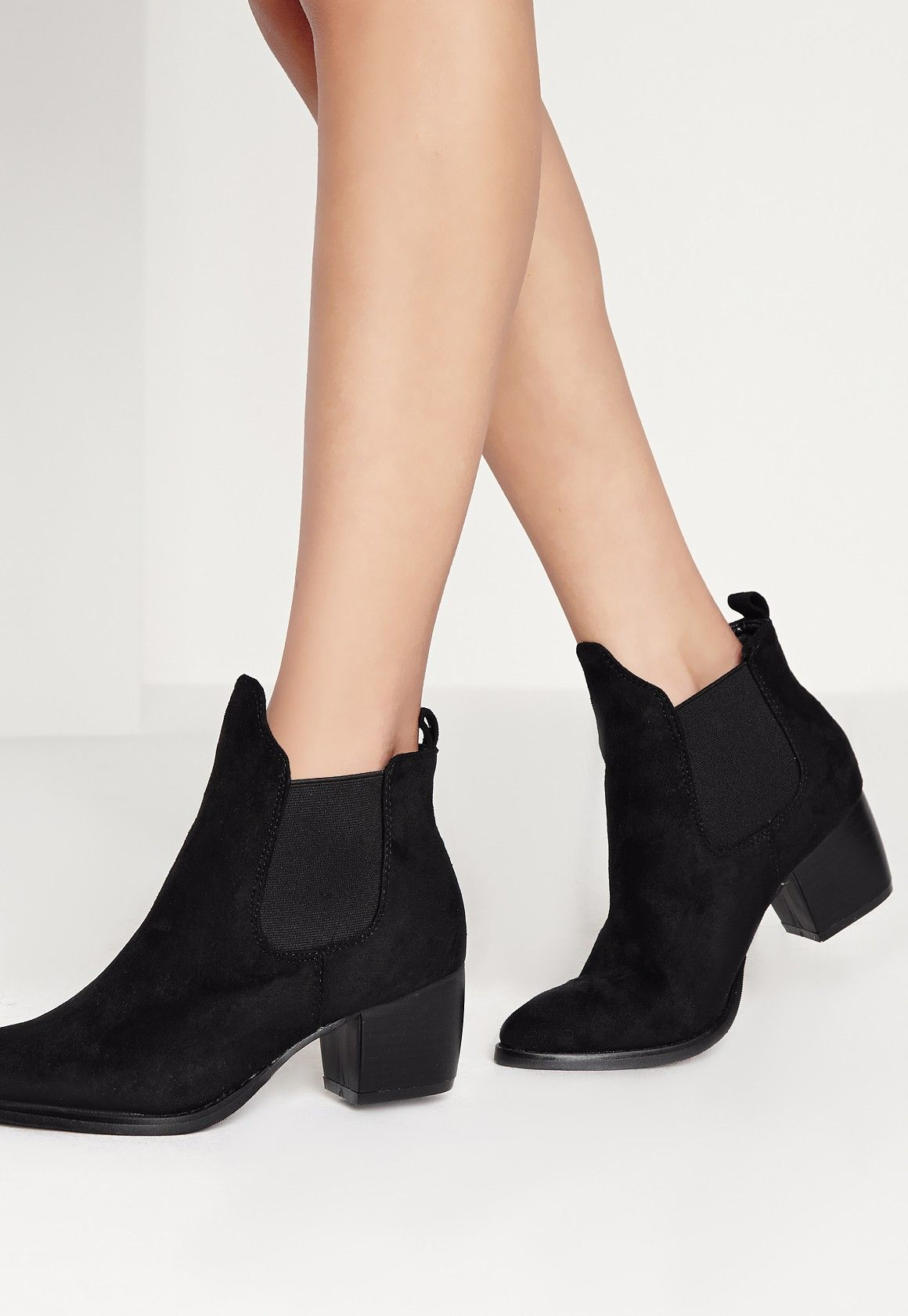 b32c63c26ff2 Missguided - Low Heel Chelsea Boots Black