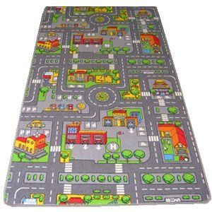 Kids Road Map Rugs Large Playmat Childrens Cars Boys S Playroom Bedroom Rug