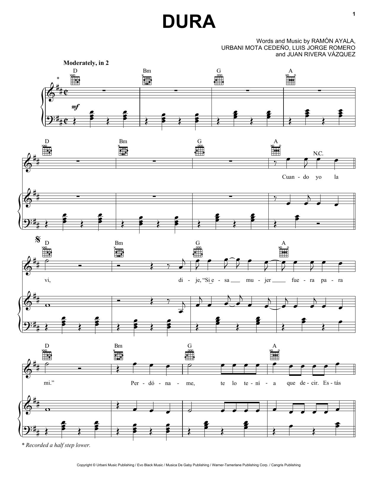 Daddy Yankee Dura Sheet Music Notes Chords Score Download Printable Pdf Sheet Music Notes Daddy Yankee Music Notes