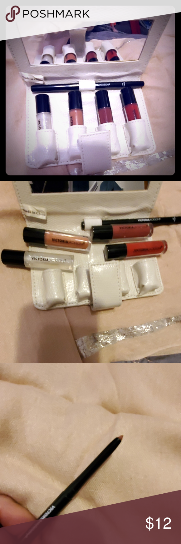 NWOT💄mirrored wallet of 4 lip colors w liner💋 Lip colors