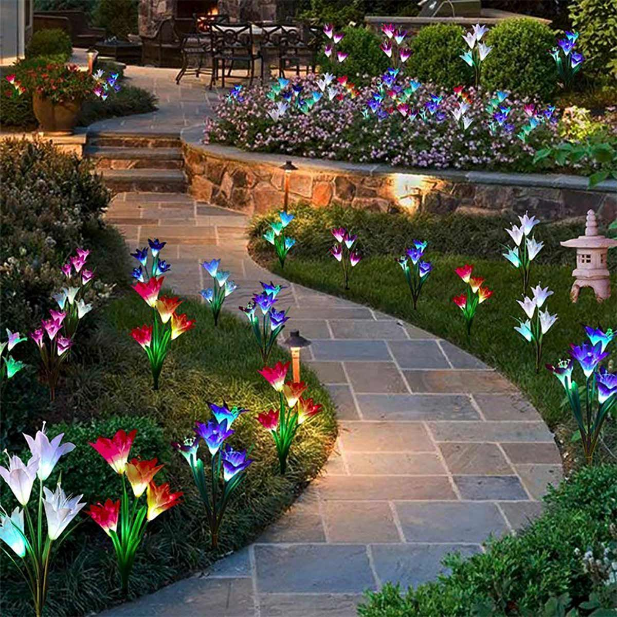 10 Flower Bed Lights We're Buying This Month Solar