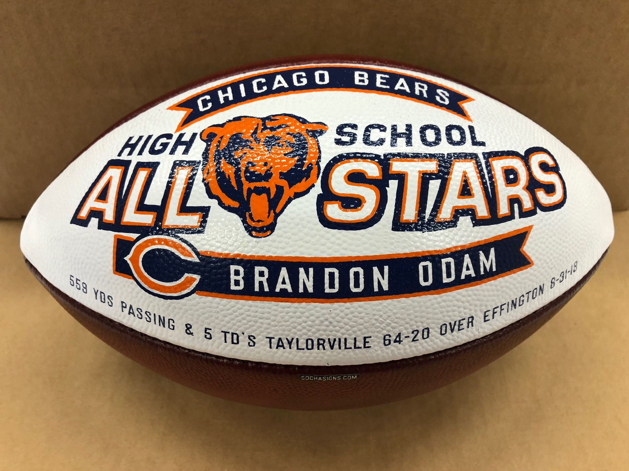 """2nd week """"High school allstar"""" named by the Chicago Bears"""